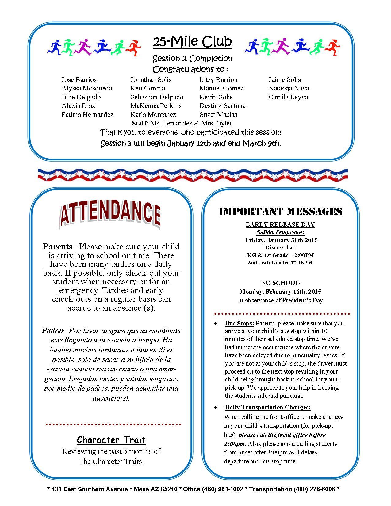 january february 2015 newsletter and calendar burke basic school